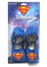 Supergirl Glitter Slipper Kids Shoes