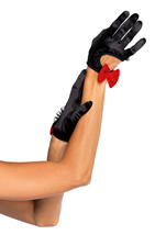 Satin Cut Out Cropped Glove