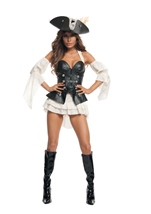 Black Pearl Pirate Woman Costume