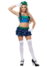 Adult Green Heroic Plumer Woman Costume