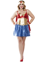 Wonder Lady Woman Plus Costume