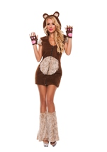 Adult Cuddle Me Bear Woman Costume