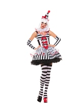 Cinched Clown Woman Costume