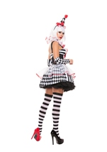 Adult Cinched Clown Woman Costume