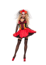 Cinched Day Of The Dead Woman Costume