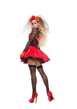Adult Cinched Day Of The Dead Woman Costume
