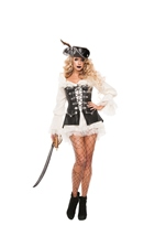 Rogue Pirate With Dress Woman Costume