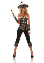 Rogue Pirate With Pants Woman Costume