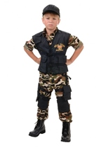Seal Team Boys Army Costume