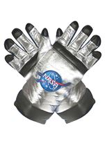 Astronaut NASA Silver Gloves