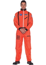 Astronaut Men Orange Costume