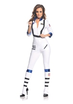 Woman White Astronaut Costume