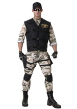 Seal Team Men Army Costume