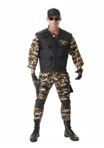 Deluxe Seal Team Men Army Costume
