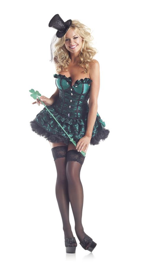 Lucky Lass Womens Deluxe Costume