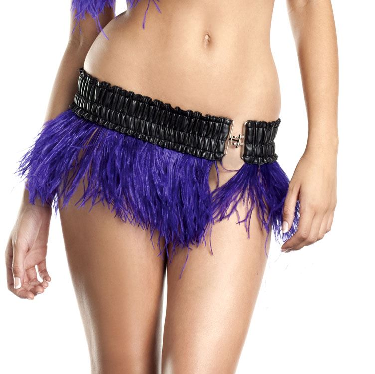 purple ostrich feather skirt womens costume 29 99