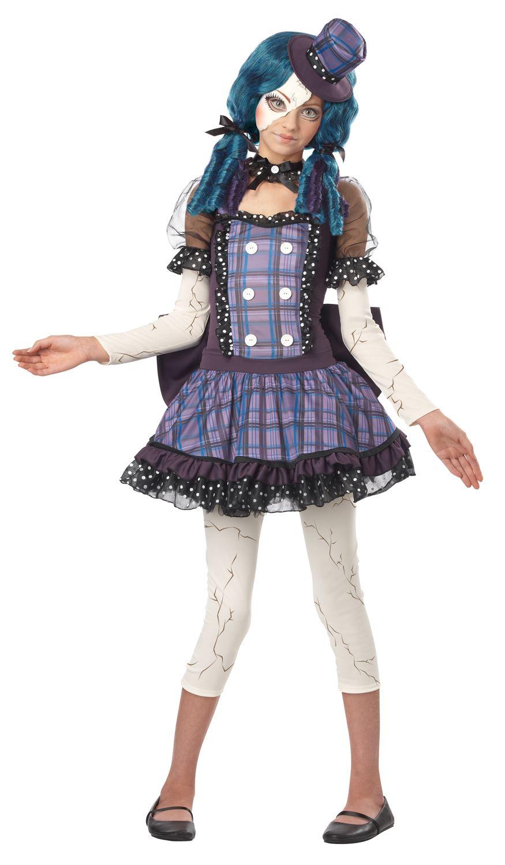 Kids Broken Doll Girls Tween Costume | $46.99 | The Costume Land