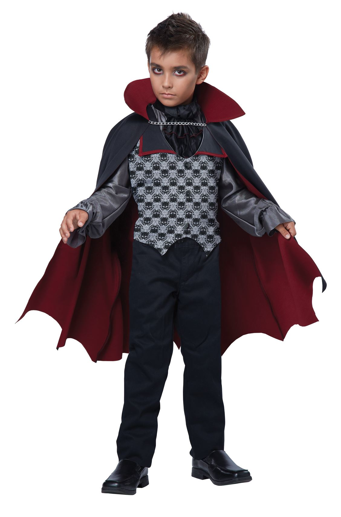Halloween Vampire Costume Kids.Kids Count Bloodfiend Boys Vampire Costume
