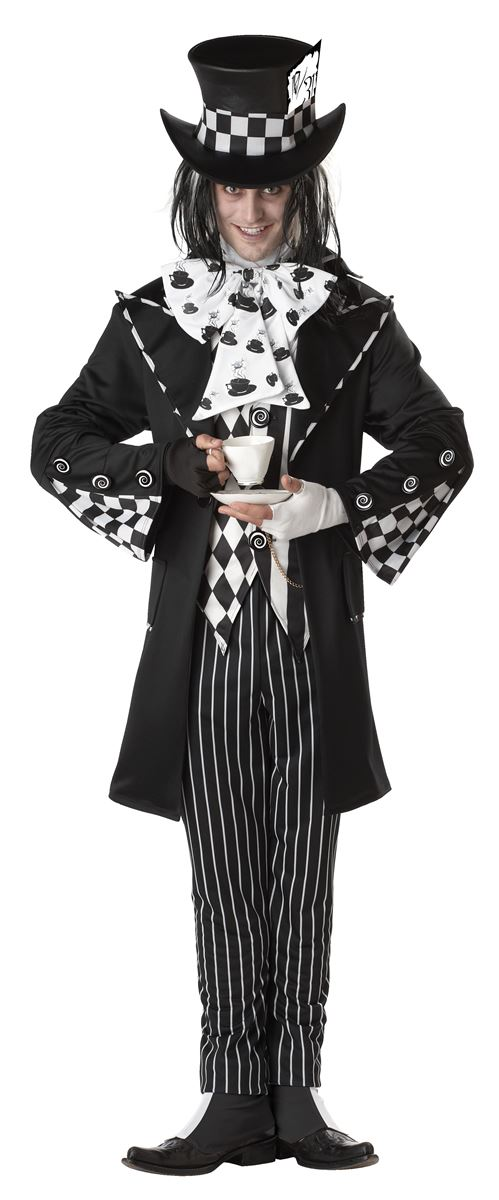 Adult Dark Mad Hatter Mens Halloween Costumes