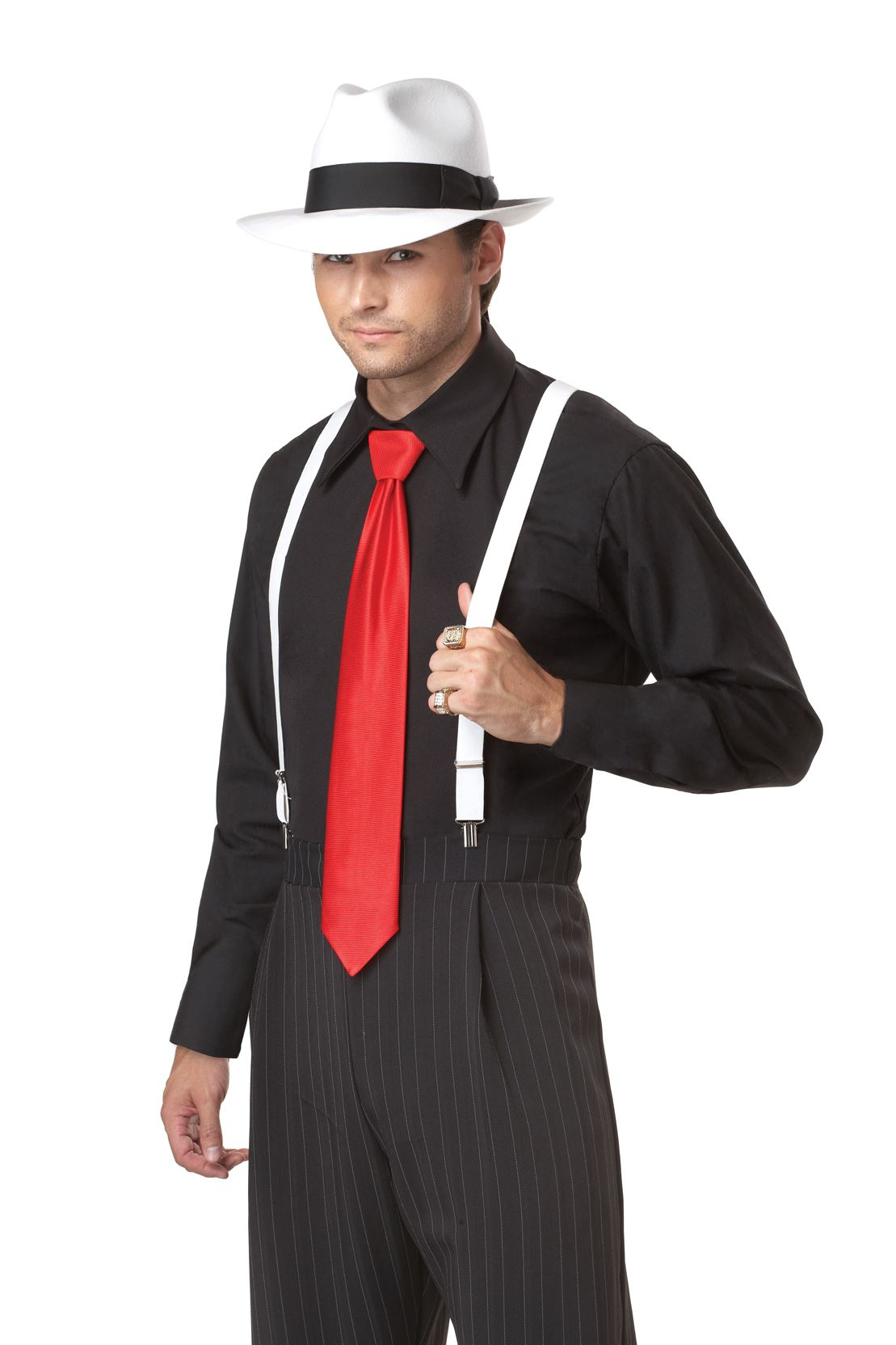 Men Gangster Mob Boss Halloween Costume Men Gangster Mob Boss Halloween Costume