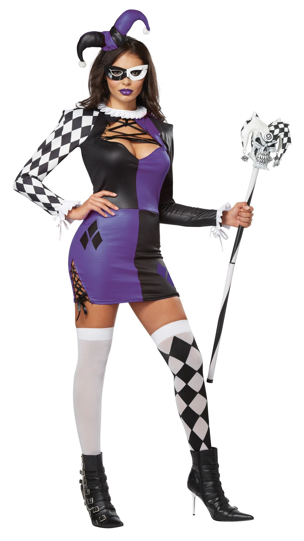 Adult Naughty Jester Women Halloween Costume  sc 1 st  The Costume Land & Adult Naughty Jester Women Halloween Costume | $23.99 | The Costume Land