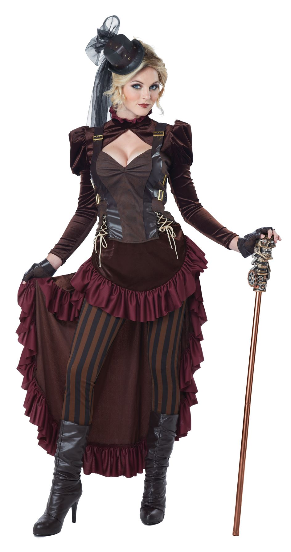 adult victorian steampunk woman deluxe costume the costume land. Black Bedroom Furniture Sets. Home Design Ideas