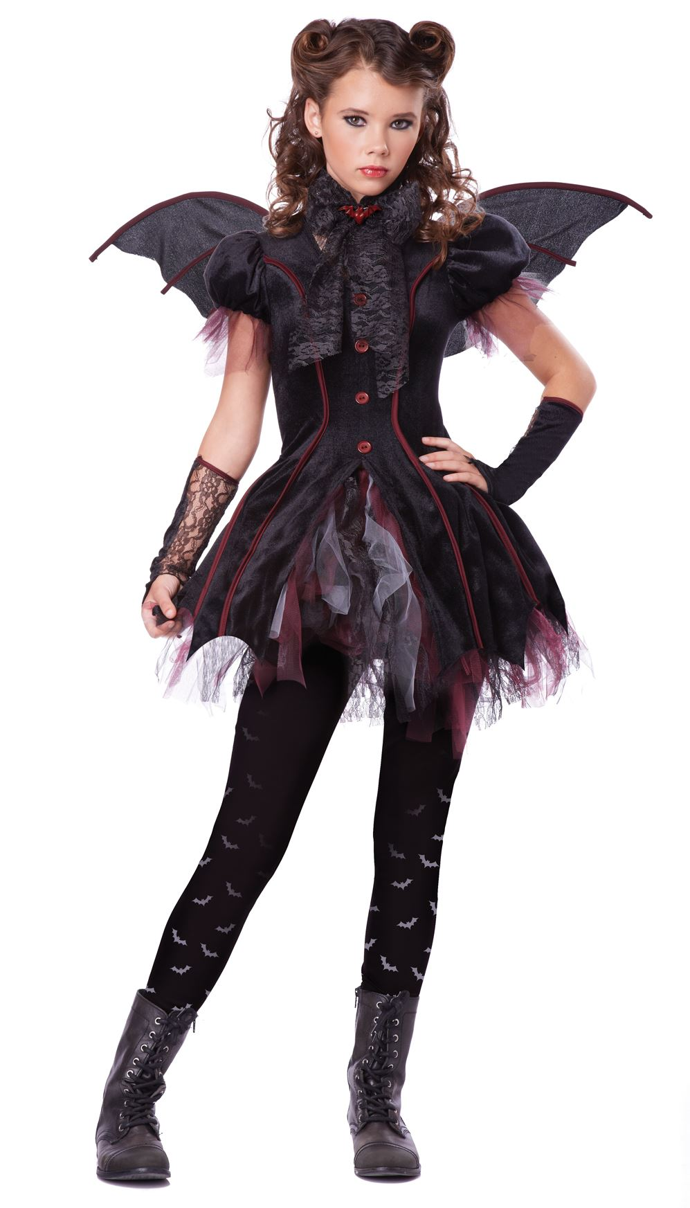 Kids Victorian V&iress Tween Girl Costume  sc 1 st  The Costume Land & Kids Victorian Vampiress Tween Girl Costume | $45.99 | The Costume Land