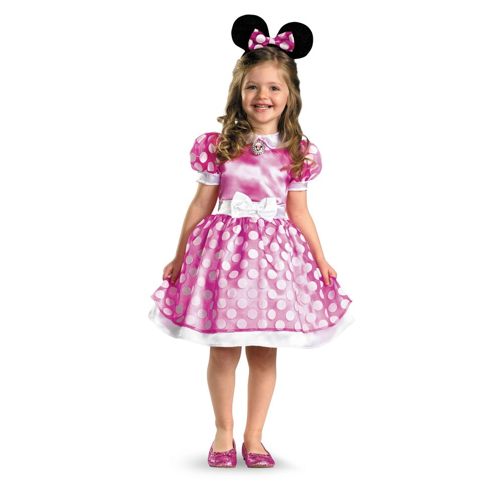 Kids Disney Pink Minnie Mouse Classic Girls Costume | $20.99 | The ...