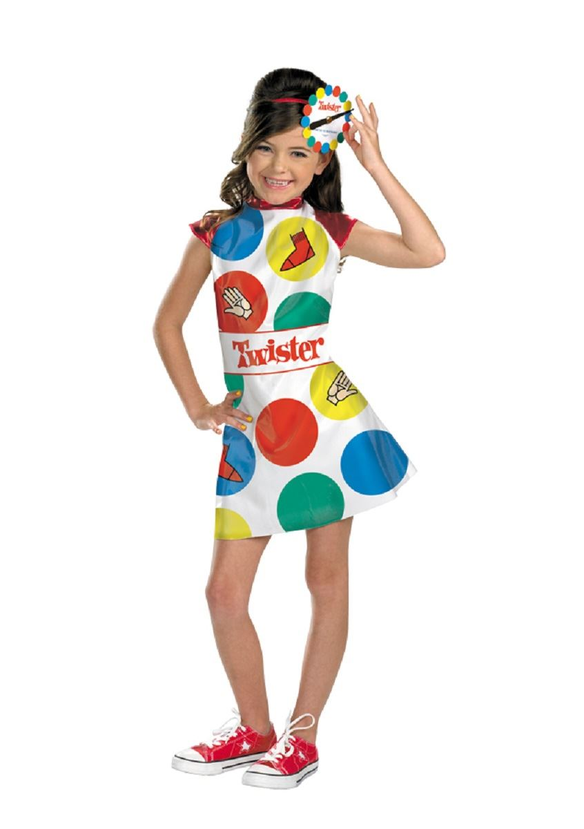 Kids twister the game girls costume the costume for Cool halloween costumes for kids girls