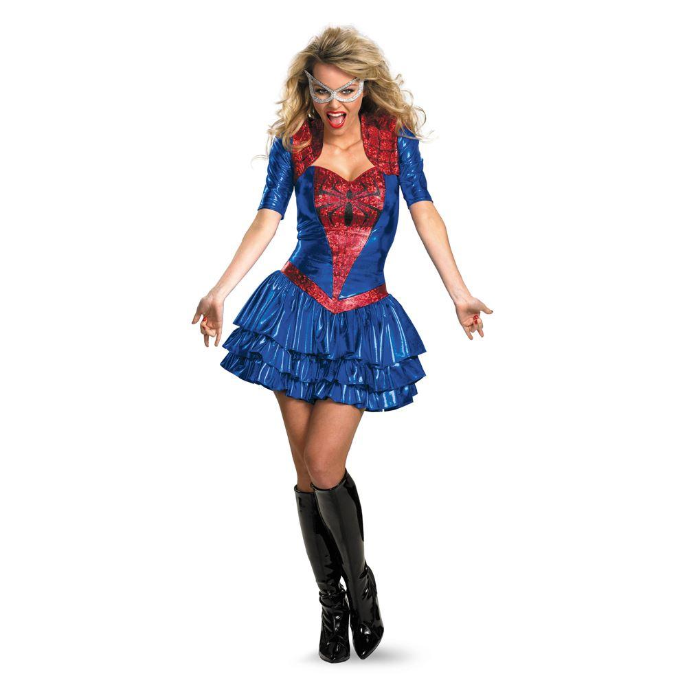 adult deluxe sassy spider girl costume - Spider Girl Halloween Costumes