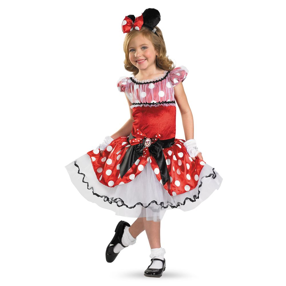kids disney red minnie prestige girl costume. Black Bedroom Furniture Sets. Home Design Ideas