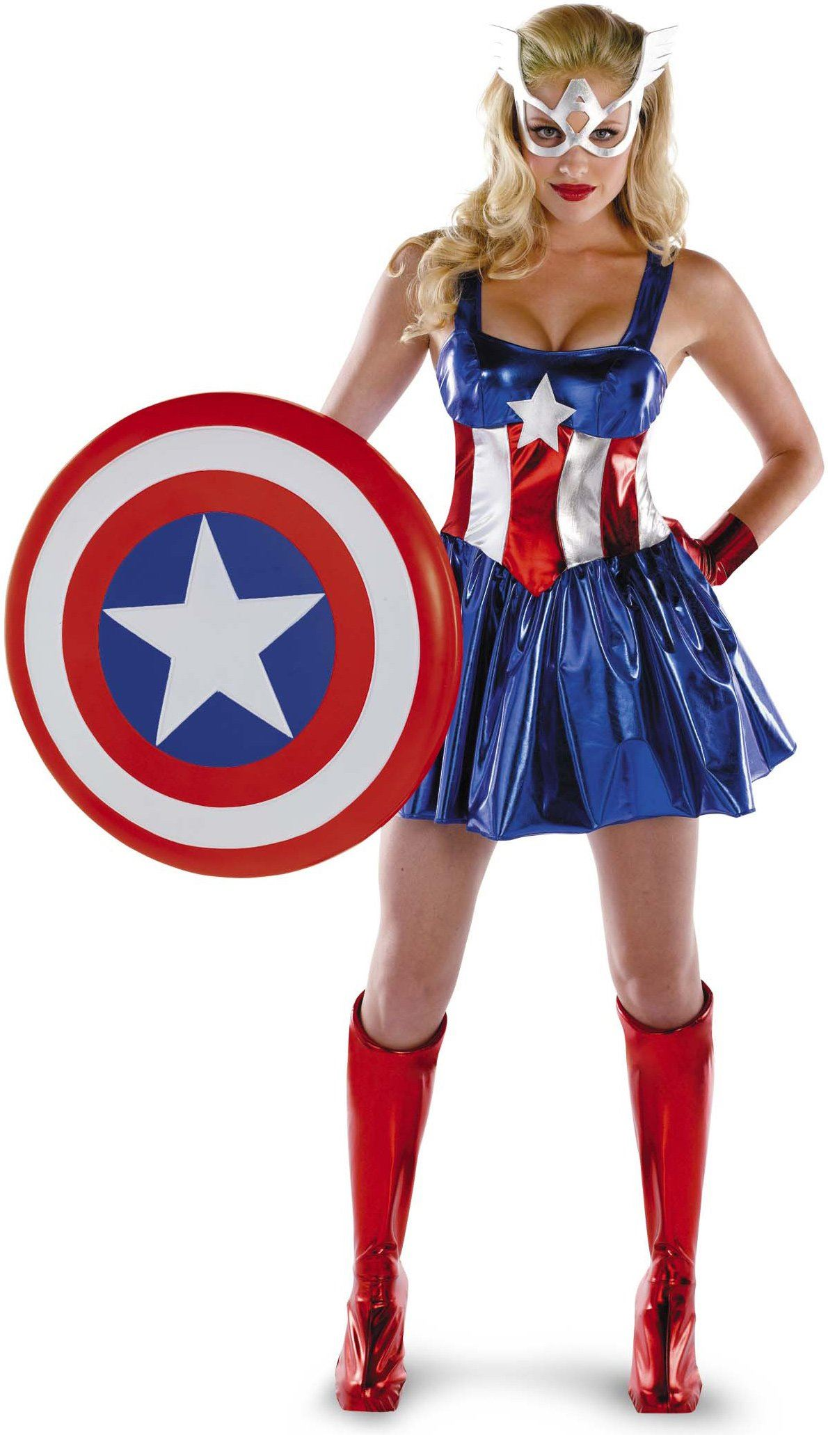 adult captain america deluxe woman costume | $60.99 | the costume land