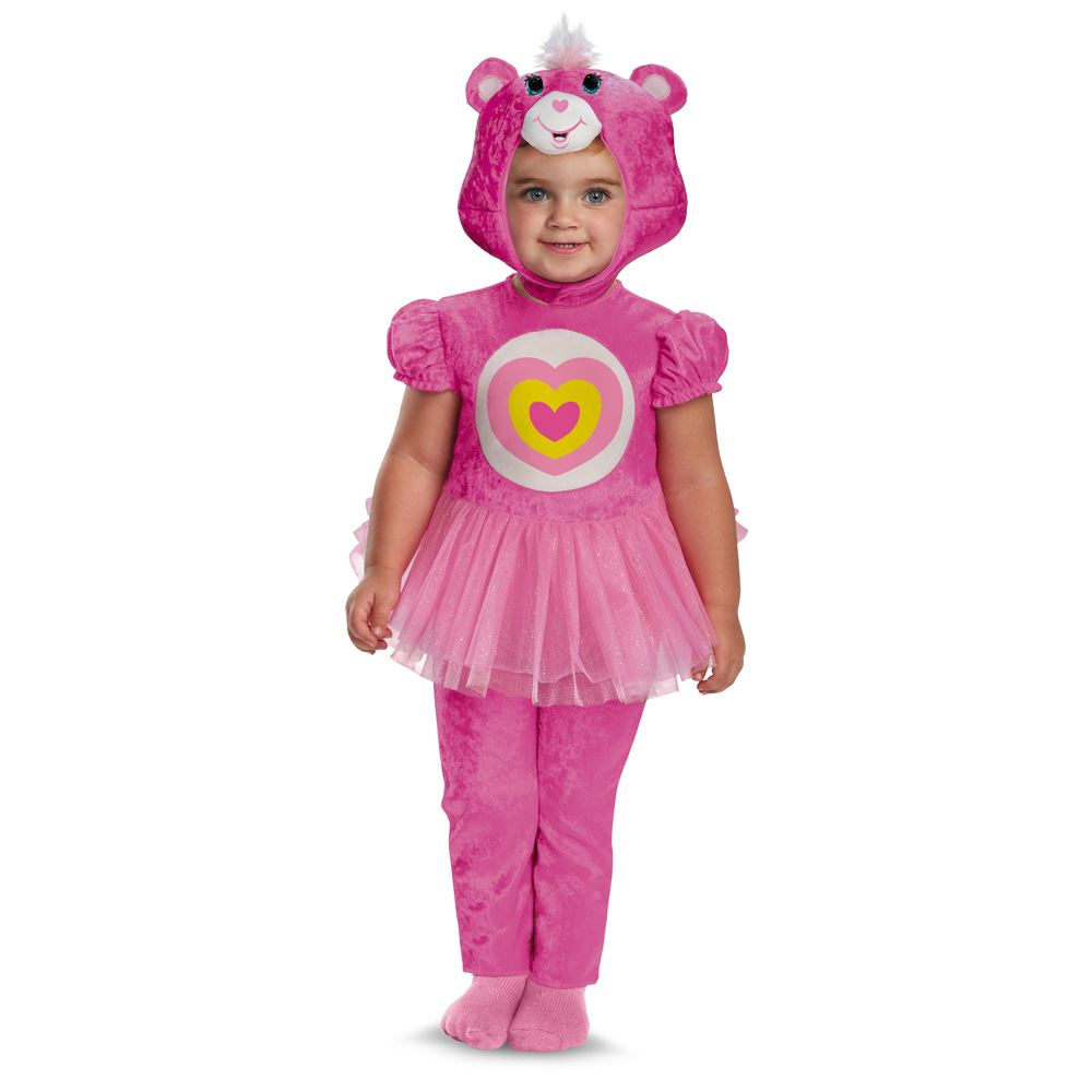 Kids Care Bears Wonderheart Bear Classic Toddler Costume | $46.99 ...