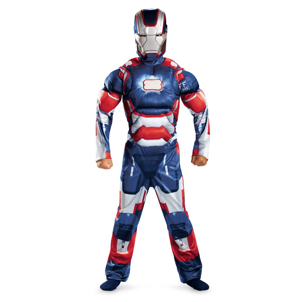 Your child can now become his favorite hero from the new movie Avengers - The Age of Ultron with this great new Iron Man deluxe costume. Muscle chest jumpsuit with armor, boot tops and mask.