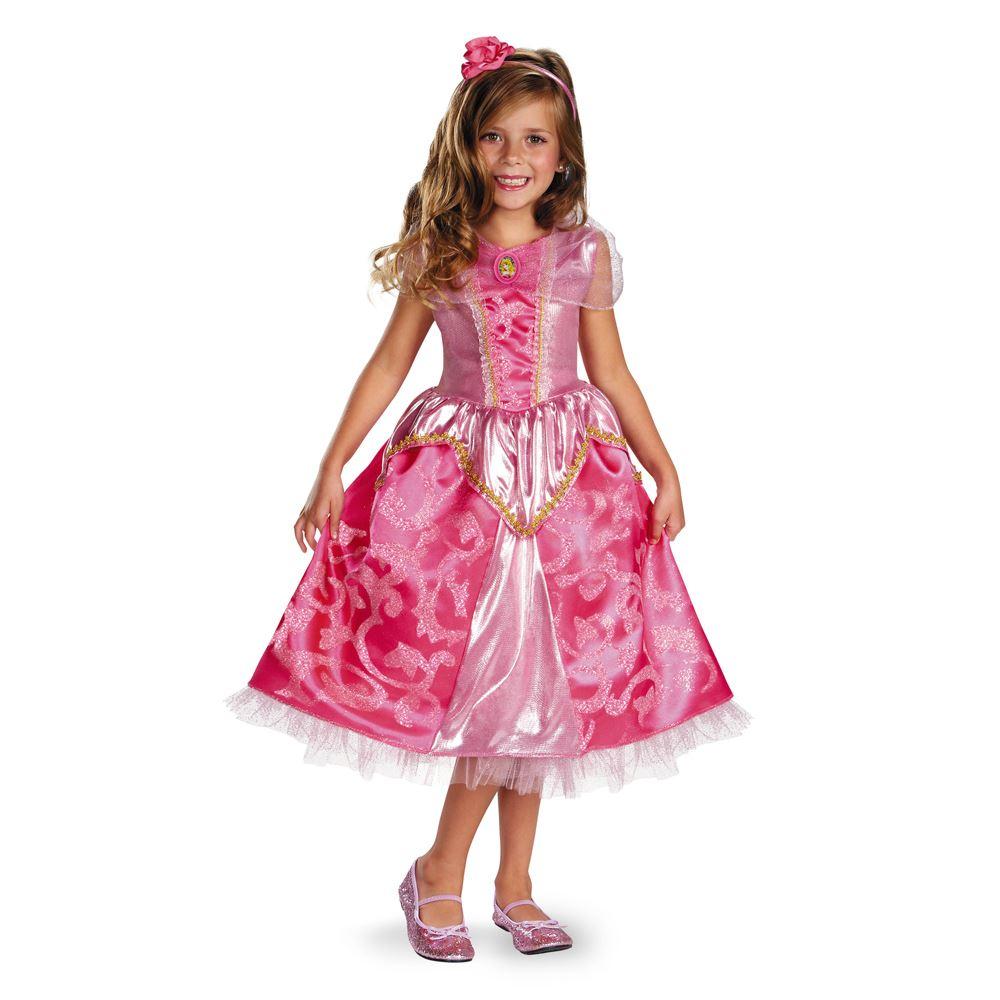Halloween Child Costume Princess Dressup Set Disney: Aurora Sparkle Disney Princess Deluxe Girl Halloween