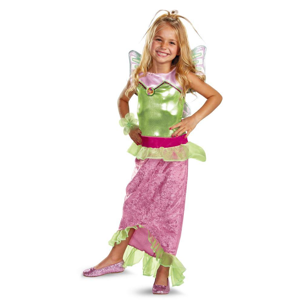 Winx Club Flora Mermaid Classic Girls Halloween Costume ...