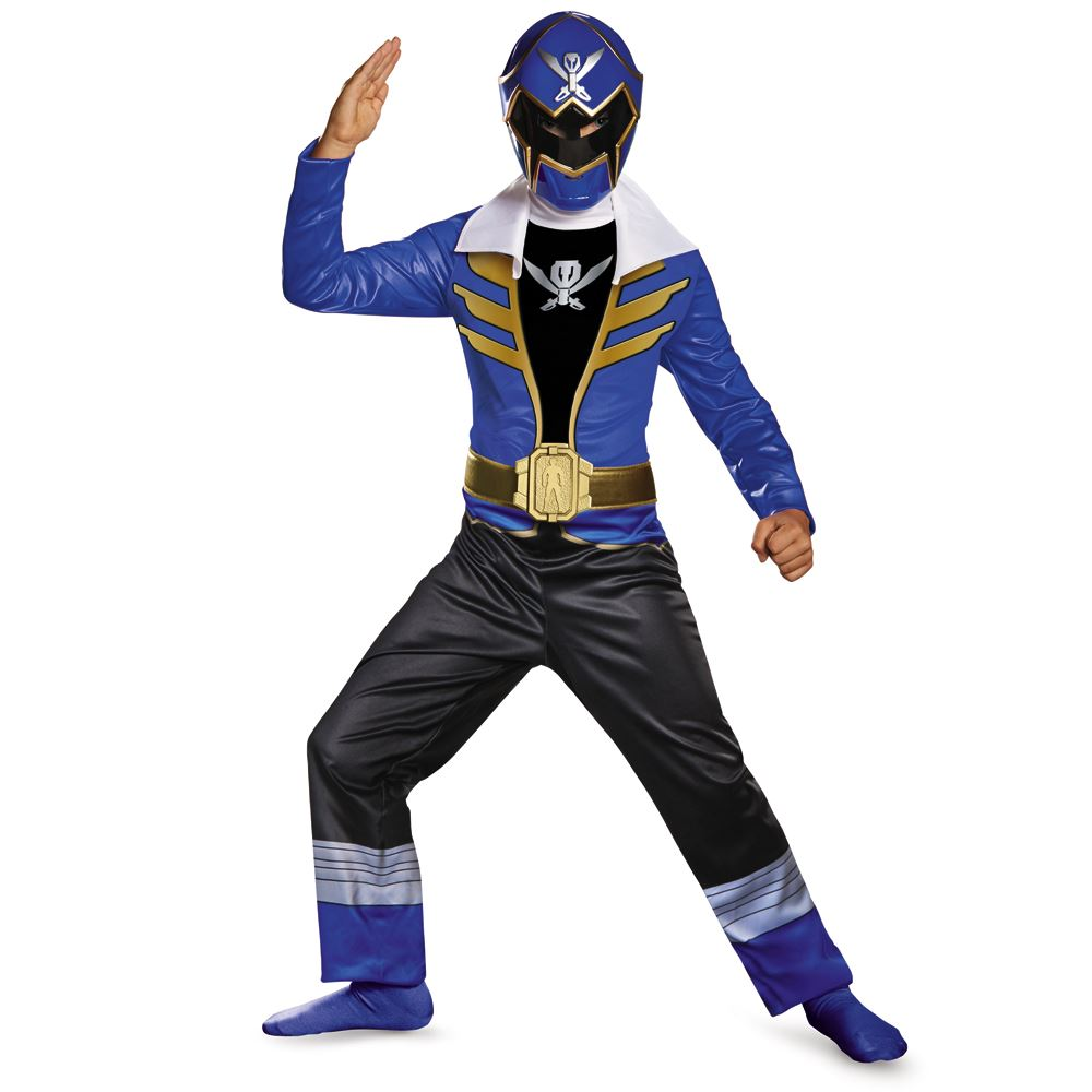 Kids Power Rangers Blue Ranger Super Megaforce Classic Boys ...