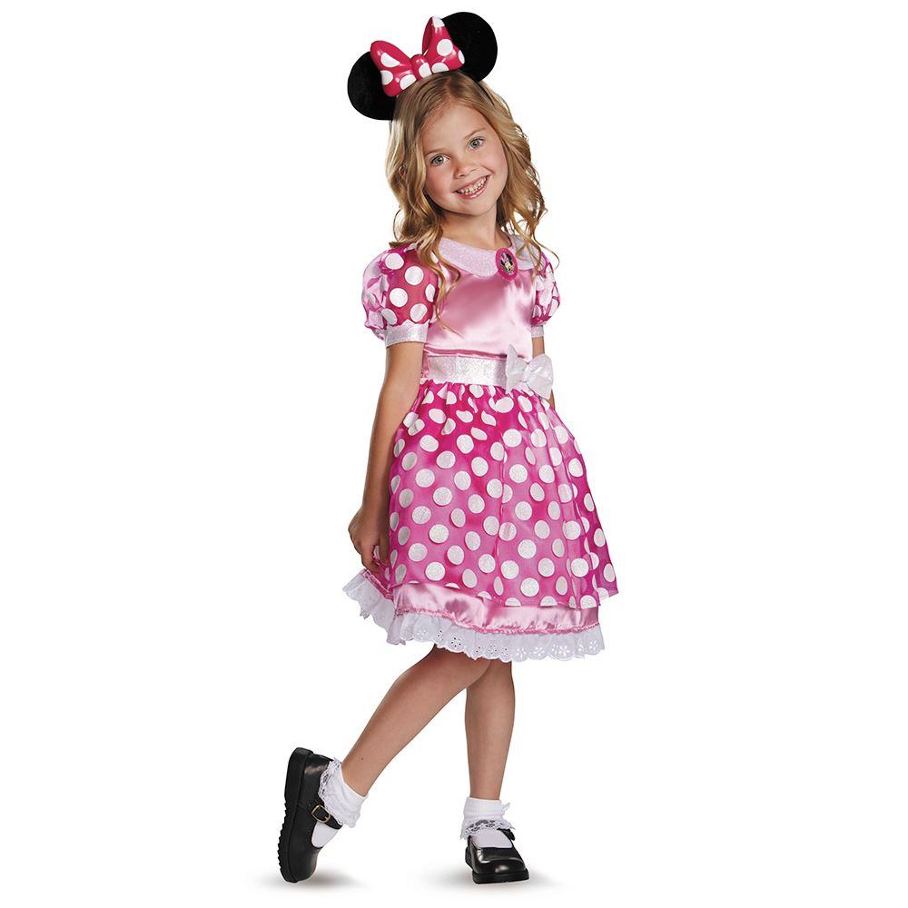 Kids Disney Pink Minnie Mouse Light-Up Motion Activated Toddler ...