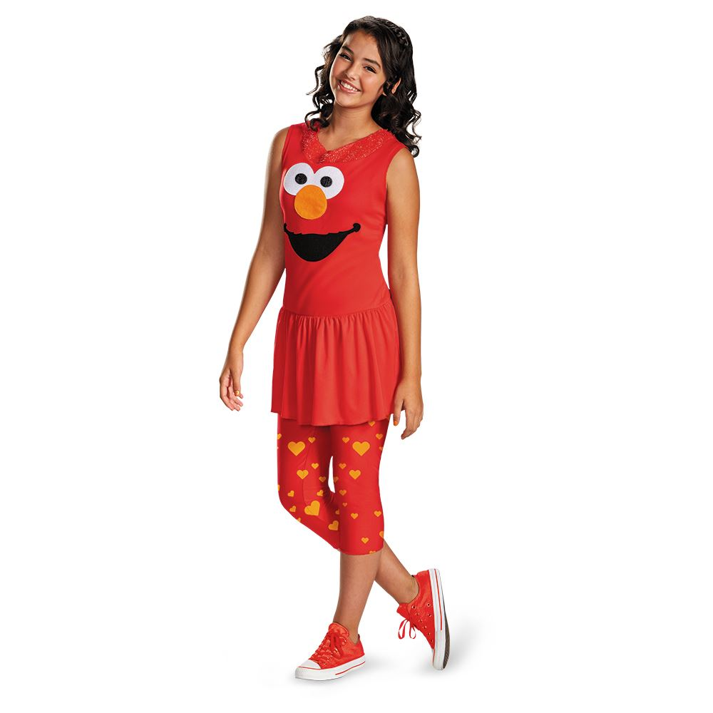 kids sesame street elmo classic girls tween costume - Halloween Costumes Elmo
