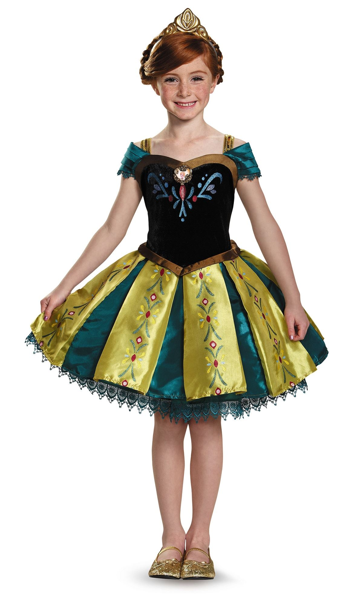 kids anna coronation frozen prestige girls costume