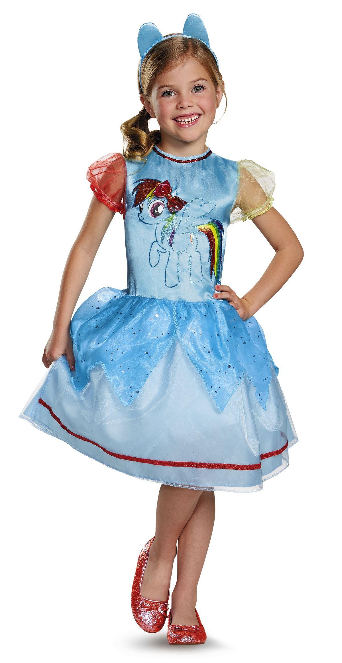 Rainbow Dash My Little Pony Girls Halloween Costume | $27 ...