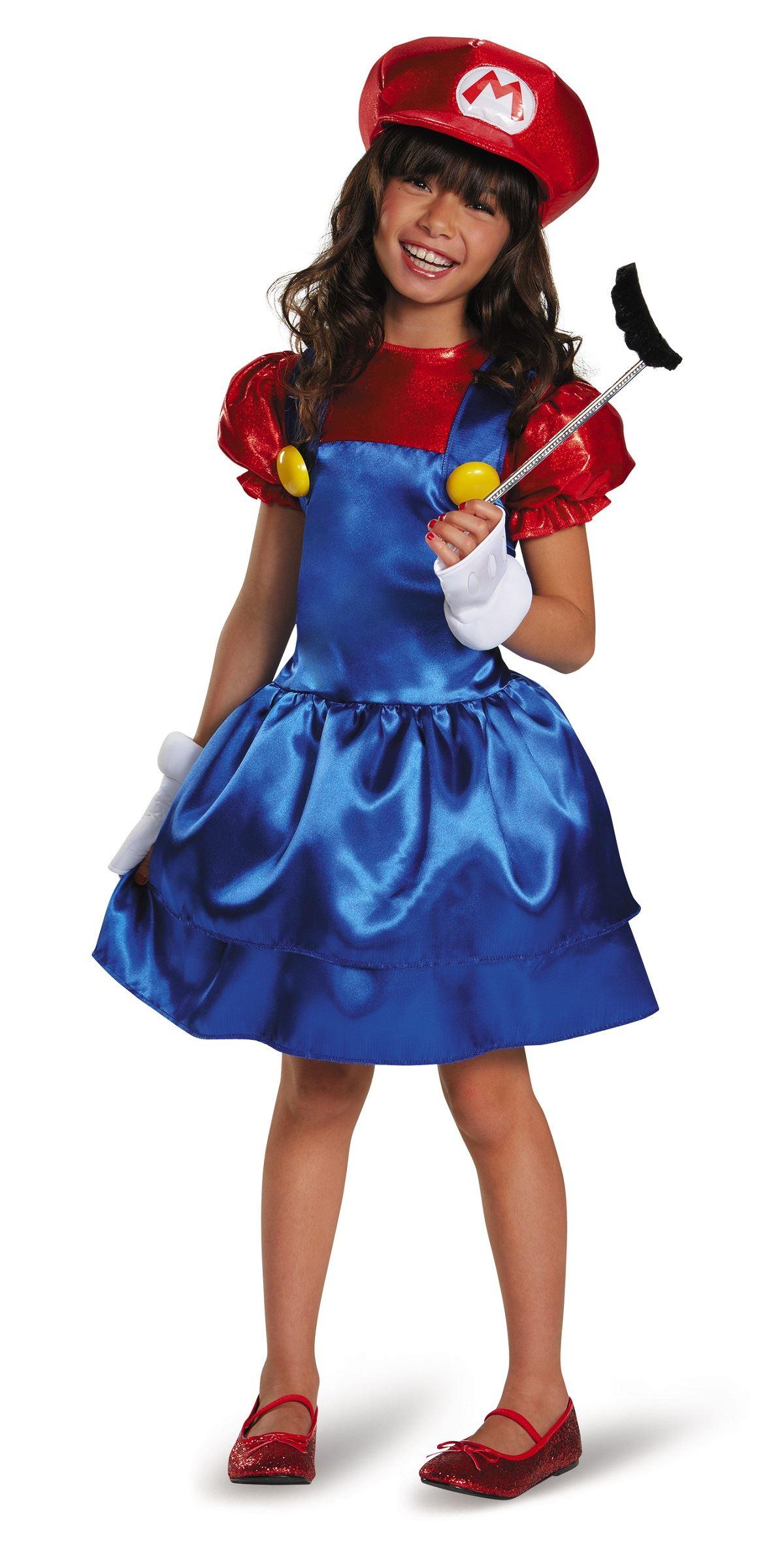 kids mario girls super mario costume