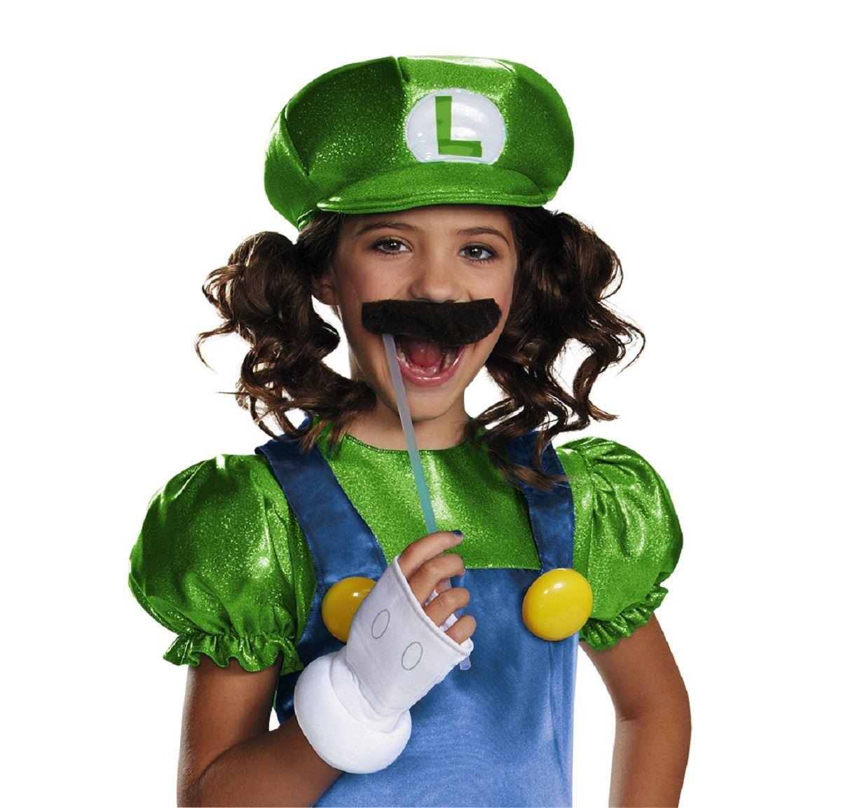 Kids Luigi Girls Super Mario Costume Kids Luigi Girls Super Mario Costume  sc 1 st  The Costume Land & Kids Luigi Girls Super Mario Costume | $34.19 | The Costume Land