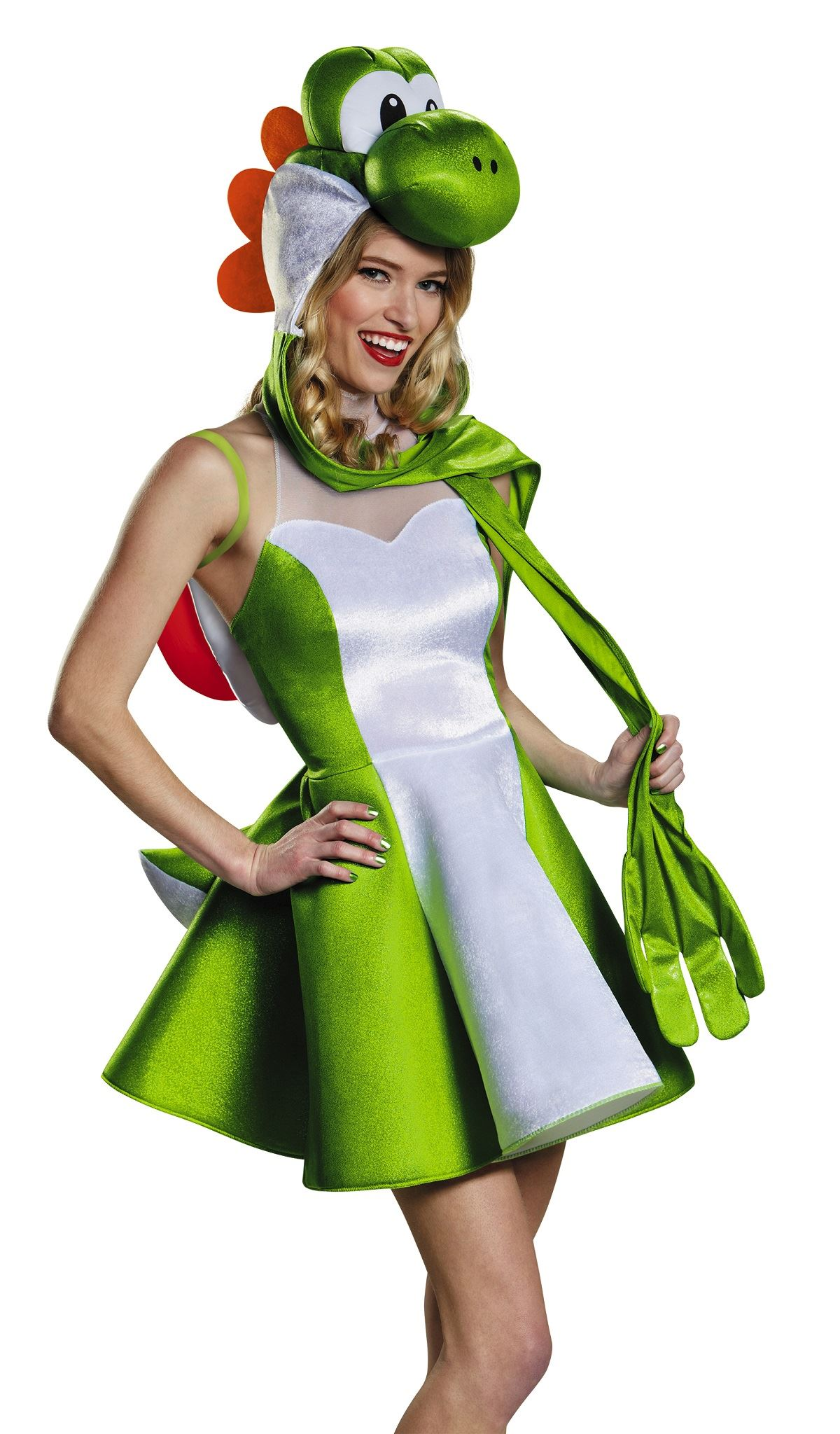... Adult Yoshi Mario Tween Girls Costume  sc 1 st  The Costume Land & Adult Yoshi Mario Tween Girls Costume | $52.19 | The Costume Land