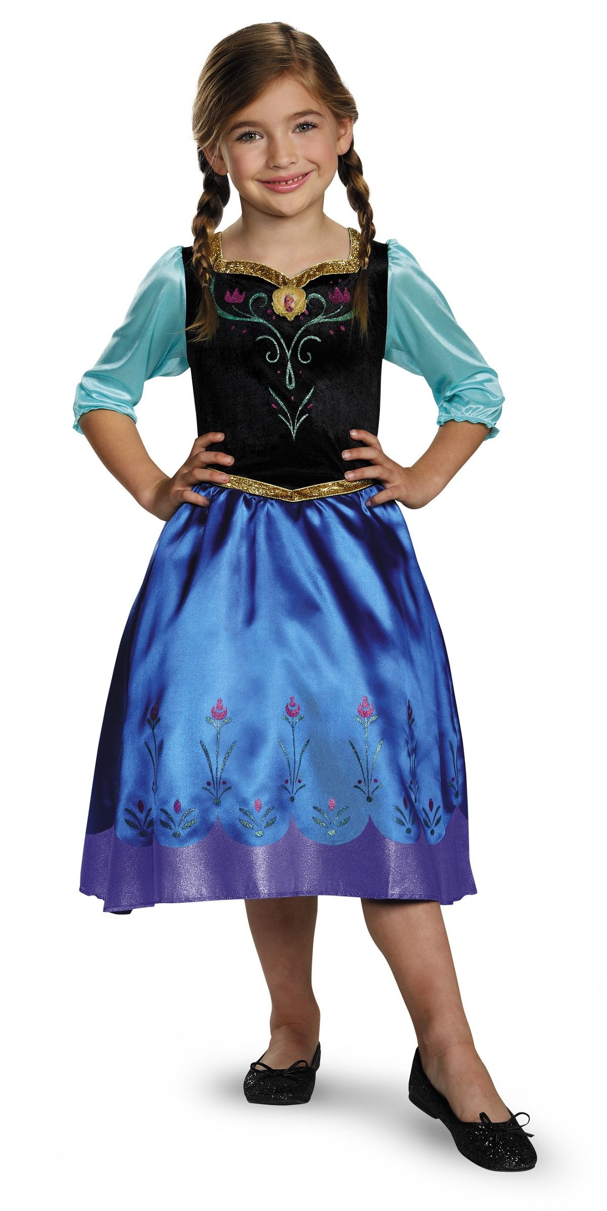 ... Kids Anna Disney Princess Girls Frozen Costume  sc 1 st  The Costume Land & Kids Anna Disney Princess Girls Frozen Costume | $20.99 | The ...