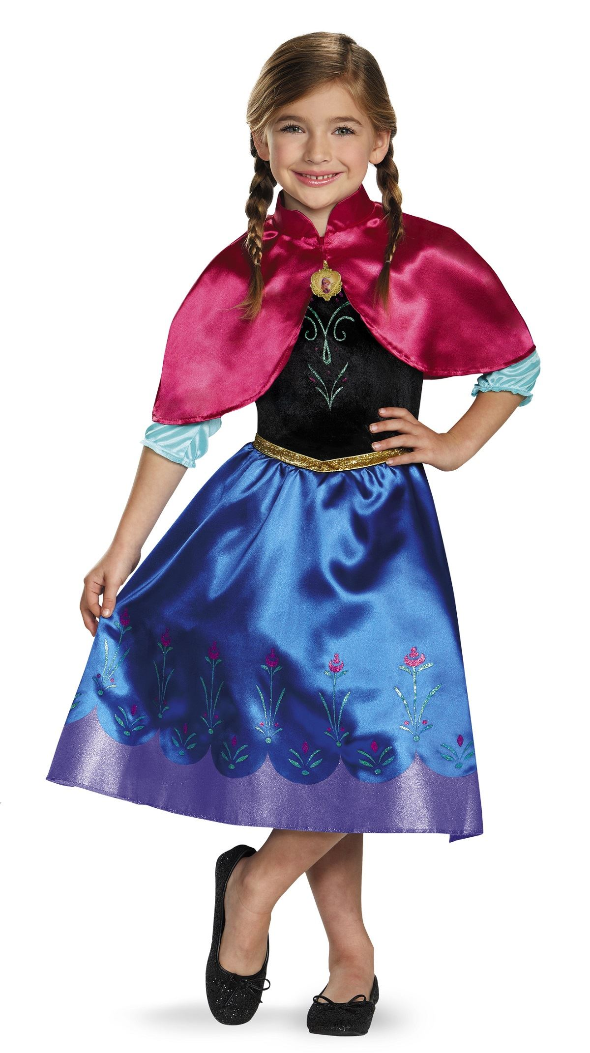 Kids Anna Disney Princess Girls Frozen Costume ...  sc 1 st  The Costume Land & Kids Anna Disney Princess Girls Frozen Costume | $20.99 | The ...