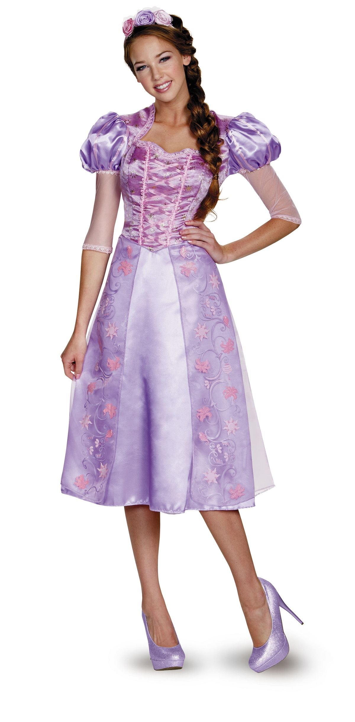 Rapunzel Disney Princess Woman Costume  sc 1 st  The Costume Land & Teen Fairy Tales Costumes Halloween Costumes | Buy Teen Fairy Tales ...