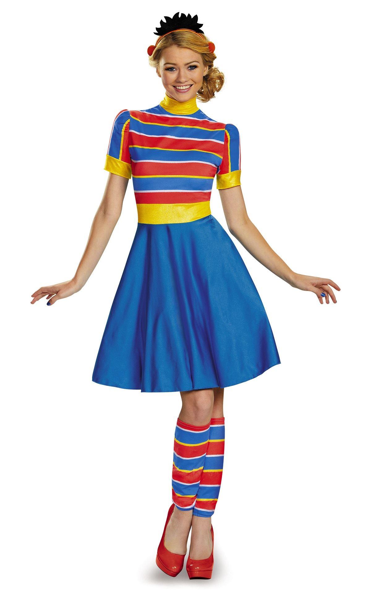 adult ernie sesame street woman costume