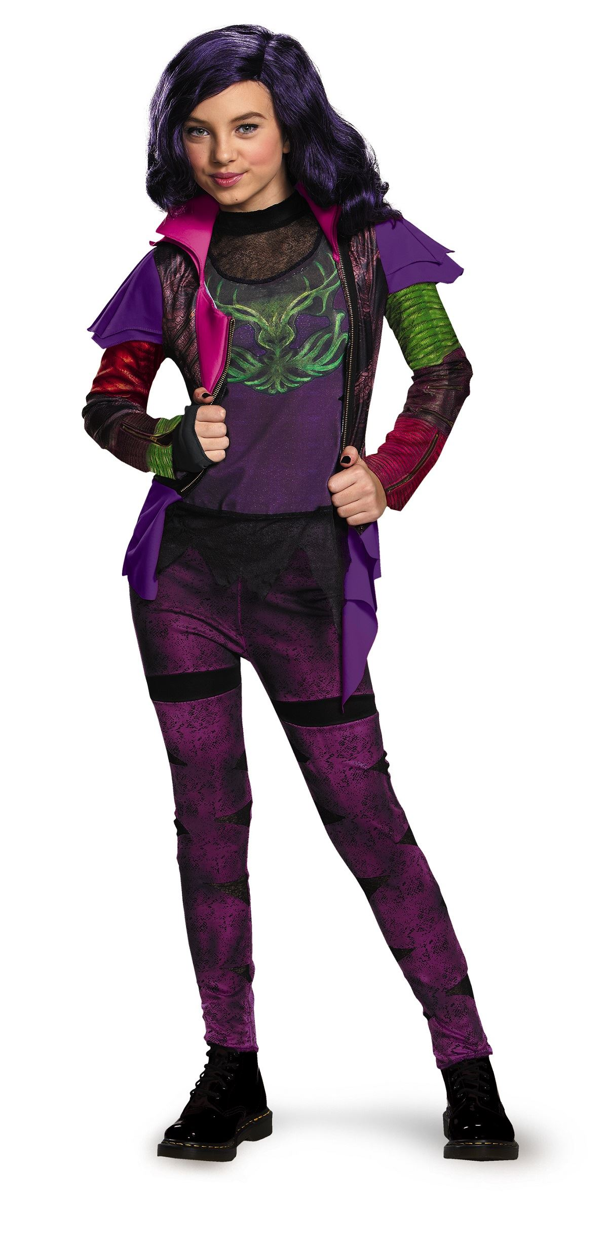 Kids Disney Descendants Mal Girls Costume 3699 The Costume Land