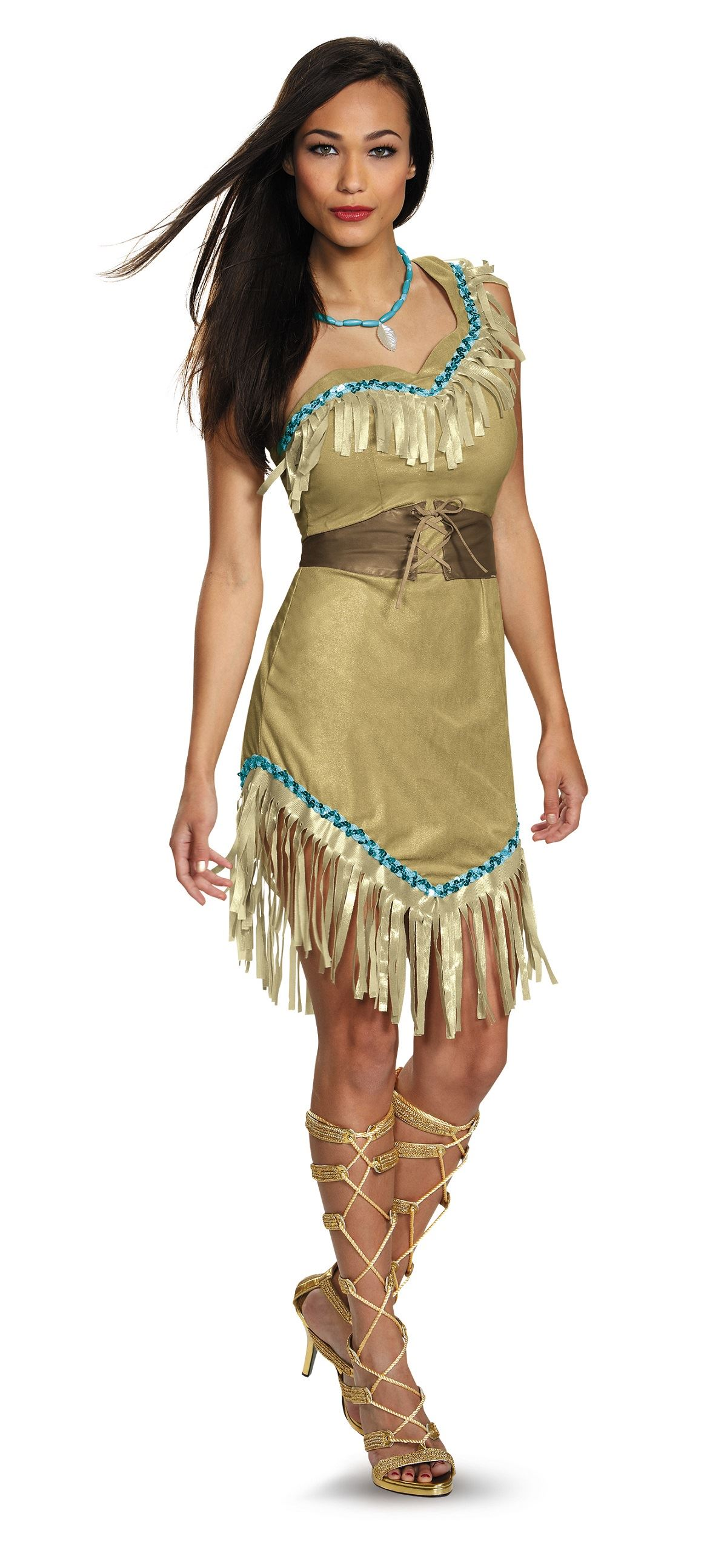 adult pocahontas disney princess woman costume the costume land. Black Bedroom Furniture Sets. Home Design Ideas